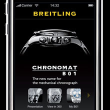 BREITLING - Chronomat B01 iPhone application