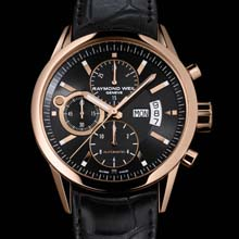 RAYMOND WEIL - freelancer pink gold date chronograph