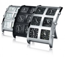 ICELINK - 6Timezone Alarm Clocks: Icelink awakes the « L.A. style » that sleeps at home