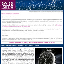 SWISSTIME - Trendspotting as Swiss watches count down to Christmas!