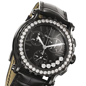 CHOPARD Happy Sport Mark II Chrono All Black