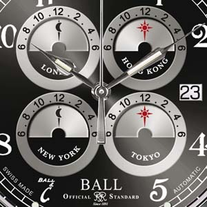 BALL WATCH Trainmaster Five Time Zone