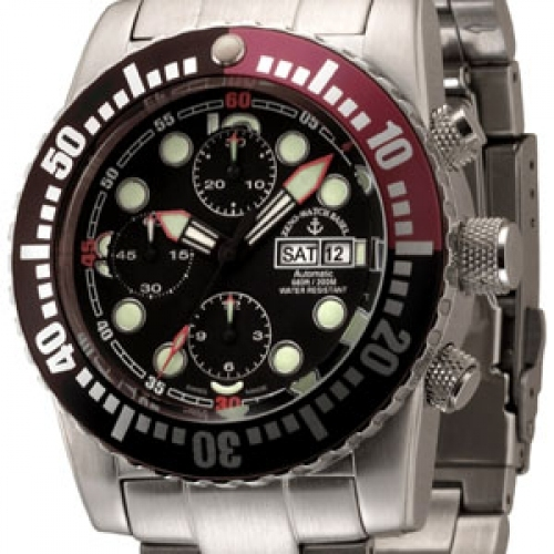 ZENO-WATCH BASEL Airplane Diver Chrono 6349
