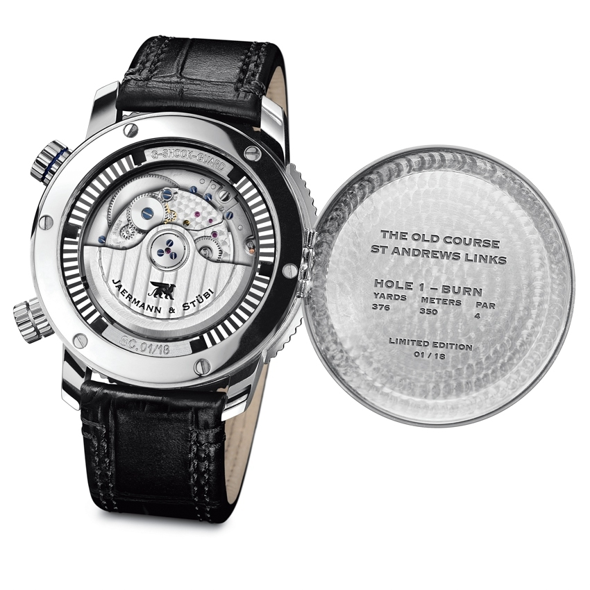 "JAERMANN & STUBI St Andrews Links Course Timer & GMT ""The Old Course"""