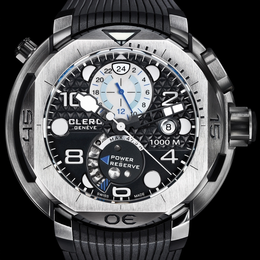 CLERC Hydroscaph Steel GMT