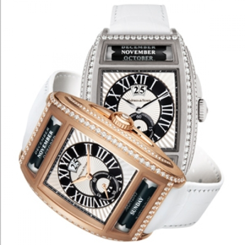 MAITRES DU TEMPS Chapter Two Diamonds, Big Date Triple Calendar