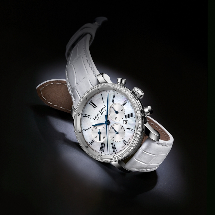 LOUIS ERARD Excellence Moon Phase 24 Hour Chronograph