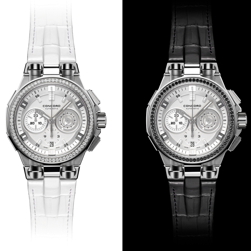 CONCORD C2 Chronograph Black & White